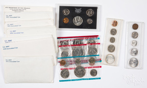 US Mint and uncirculated sets.