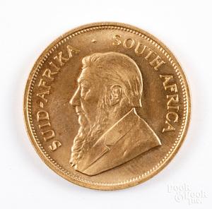 1 ozt. fine gold Krugerrand.