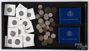 Collection of US coins, to include large cents
