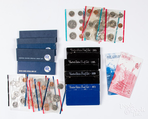 US mint and proof sets.