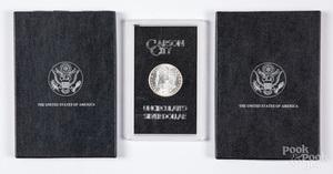 Uncirculated Carson City Morgan silver dollars