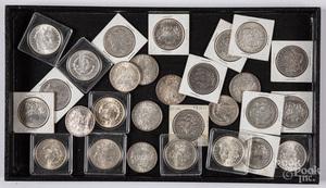 Twenty-nine Morgan silver dollars
