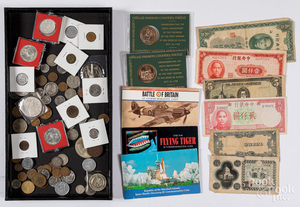 US and foreign coins and currency