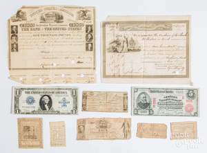 Early paper currency, to include colonial notes