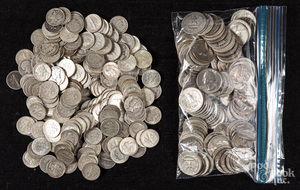 Silver quarters and dimes, 36.2 ozt.