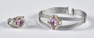 Charriol 18K gold, bracelet and ring