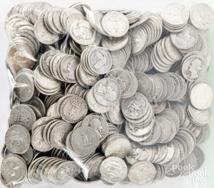 US silver quarters, 164.3 ozt.