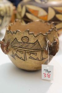 Zuni Indian pottery vessel