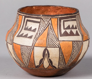 Acoma Indian polycromed pottery olla