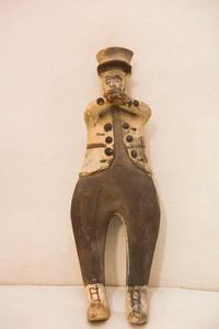 Cochiti Indian pottery polychromed figure