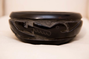 Margaret Tafoya Santa Clara Indian blackware bowl