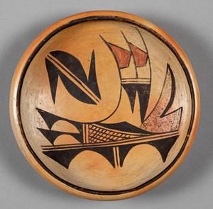 Hopi Indian pottery bowl