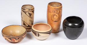 Five pieces of Southwestern Indian pottery