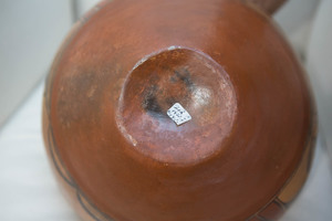 Zia Indian polychromed pottery vessel