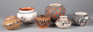 Six southwestern Indian pottery vessels