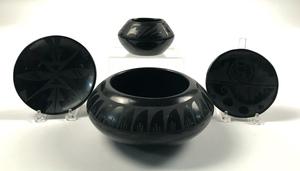 Pueblo Indian blackware pottery