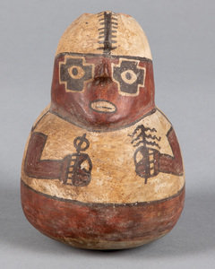 Peruvian clay vessel of a man