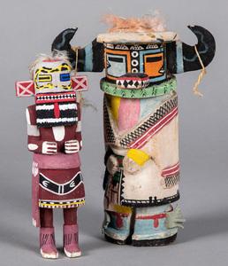 Two vintage Hopi Indian Kachina figures, 10
