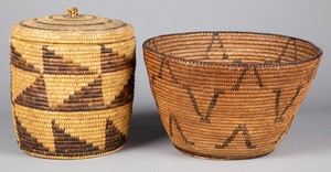 Two southwestern Indian coiled baskets, to includ