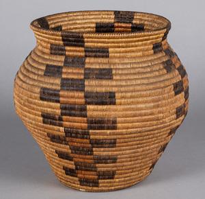 Jicarilla Apache Indian basketry split willow oll