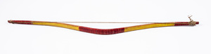 Good Plains Indian painted bow, 19th c., sinew ba