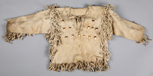 Native American Indian fringed hide shirt, with r