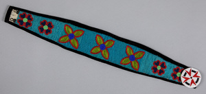 Cree Indian beaded belt, with floral and heart mo