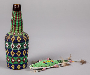 Two Native American Indian beaded items, to inclu