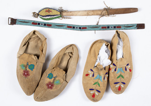 Four Native American Indian artifacts, to include