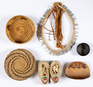 Six various tribal artifacts, to include a Hopi p