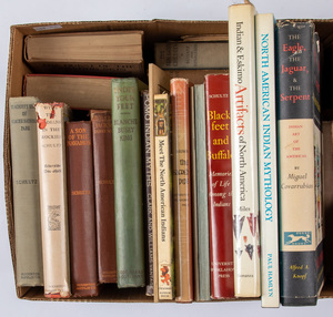 Group of books related to Native American Indians