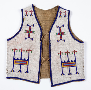Sioux Indian beaded youth vest