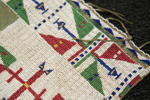 Pair of beaded and painted Sioux Indian leggings