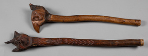 Two Penobscot Indian root ball club