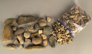Large group of Native American Indian stones
