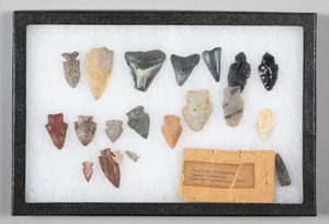 Group of Native American stone points