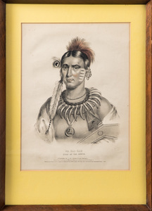 Three Native American Indian hand colored L. T. B