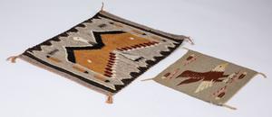 Three Navajo Indian pictorial eagle weavings, 14