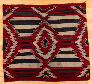 Navajo Indian textile, with a modified third phas