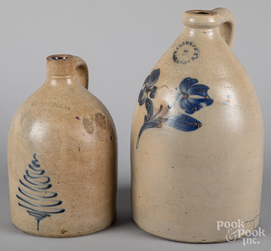 Two stoneware jugs, 19th c.