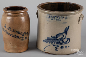 West Virginia stoneware crock, 19th c.