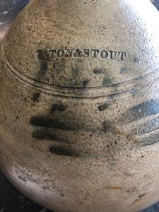New Jersey stoneware jug, 19th c.