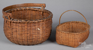 Two woven baskets, ca. 1900