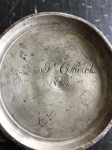 Philadelphia pewter mug, early 19th c.