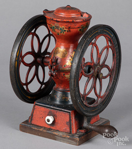 Enterprise painted cast iron coffee mill