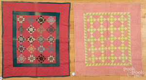 Two pieced crib quilts, ca. 1900