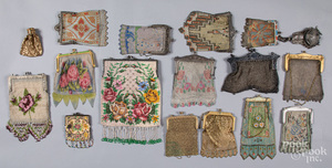 Collection of Victorian mesh and beaded purses