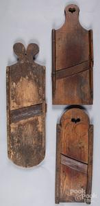 Three Pennsylvania slaw cutters, 19th c.