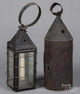 Two tin lanterns, 19th c.