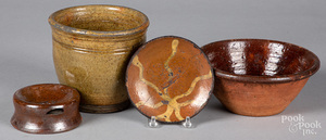 Group of redware, 19th c.